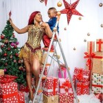 Tonto Dikeh shares lovely Christmas photos with her son