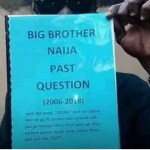 Big Brother Naija Past Questions' booklet is being sold at Road side