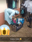 Man disguised as a woman selling ice cream was caught with a bag filled with stolen panties in Ilese-Ijebu, Ogun state.