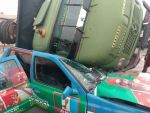 Accident : Truck Falls on Branded  APC Car , Driver in Critical Condition (Photo)