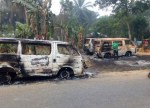 """Thugs attack INEC office Akwa Ibom """" 2 people killed and cars destroyed """""""
