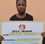 EFCC Arrested Yahoo Boy who Scammed US citizen of $230 (Photo)