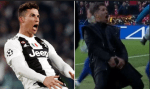 See how Juventus Cristano Ronaldo Mocked Atletico Madrid Coach , Diego Simeone After Juventus Win (Photo)