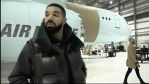 Canadian Rapper, Drake shows off his New Custom Private Plane, named 'Air Drake' ( Video)