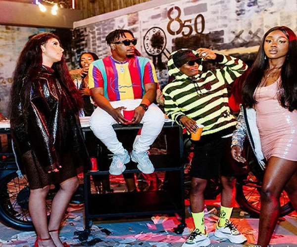 Olamide and Wizkid Spotted Together In a Video Shoot (Photos
