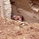 Young Man Dies After  An Underground Foundation Of Building He Was Digging collapsed on him( Photos)