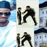 Nigerian Comedian, I Go Dye, gifts his son a Massive house as he turns 9 today (photos)
