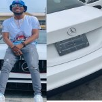 Nigerian Singer, Victor AD shows off his brand New Mercedes Benz whip (Video)