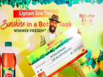 BBNaija Season 4 RunnerUp Mike Receives His N1,000,000 & a Trip for 2 to Mauritius for Winning The Lipton Ice Tea Task