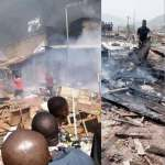 Ogbete Main Market In Enugu gutted By Fire (Photos)