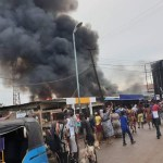 Fire Razes Ogbe-Ogonogo Market In Asaba, Delta State (Photos & Video)
