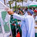 Pigeons released by Buhari at Armed Forces Remembrance Day celebration Refused to fly (video)