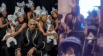Nigerian socialite, Pretty Mike attends Toyin Lawani's wedding with convey of baby mamas and their babes (video)