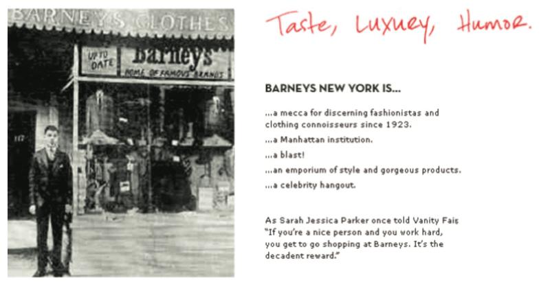 バーニーズニューヨークの歴史資料