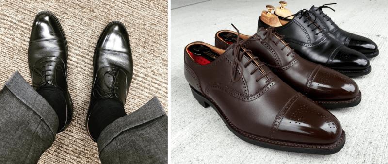 スコッチ グレインの雨用革靴『シャインオアレイン』のブラウン革靴とブラック革靴