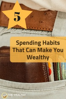 5 spending habits that can make you wealthy. How you spend your money determines how rich you will be. Right spending habits increase your wealth. #wealthyaccountant #spending #spendinghabits #investing #debt ##indexfunds #incomeproperties #rentalproperty #guilty #guiltyfeelings #buyersremorse