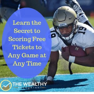 Learn the secret to scoring free tickets to any game at any time. Enjoy football, soccer, hockey, baseball or basketball from the inside. You and your friends will have the best time ever! #wealthyaccountant #hockey #football #free #tickets #basketball #baseball
