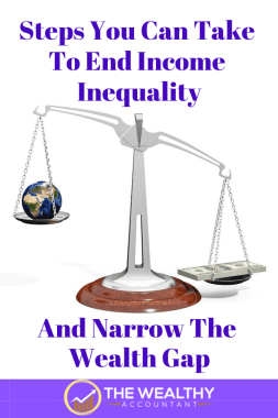 Here is what you can do to end income inequality today! 3 ways to narrow the wealth gaps and level income.