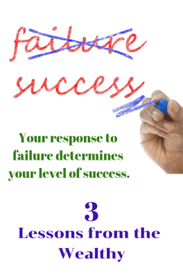 Turn failure into success! Your response to failure determines your level of success. Recover from financial mistakes like the wealthy.