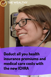 Deduct all your health insurance premiums and medical care costs tax-free. #healthinsurance #benefits #employee benefits #healthinsurancepremiums #medicalcosts #deductiblemedicalcosts Deductibleinsurance #HRA #QSEHRA #ICHRA