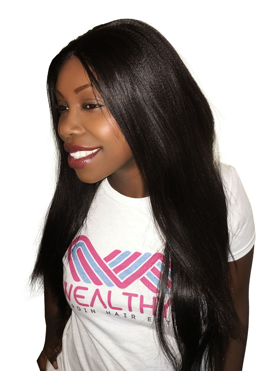 Virgin Remy Sew In Weave Hair Extensions Yaki Relaxed