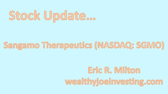 Stock Update: Sangamo Therapeutics (NASDAQ: SGMO)
