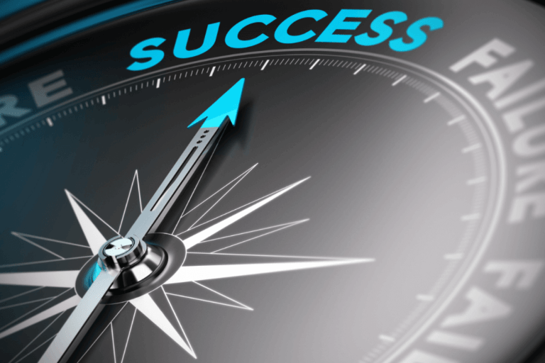 Success and mindset Image Description: a compass with a needle pointing to the north - Success direction