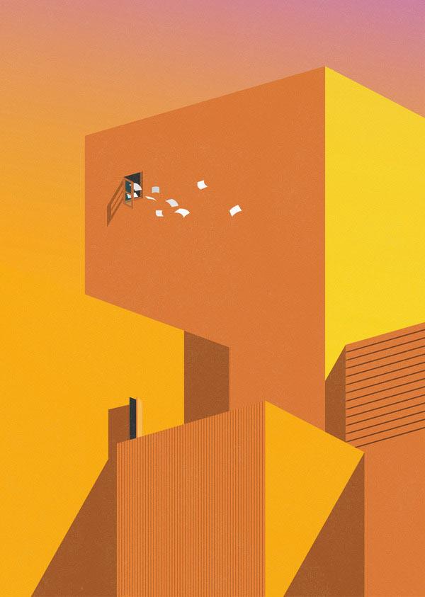 Minimalist Illustrations by Ray Oranges