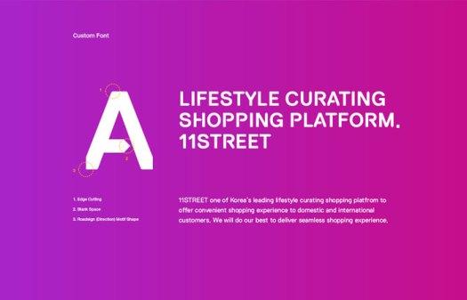 Custom typeface.