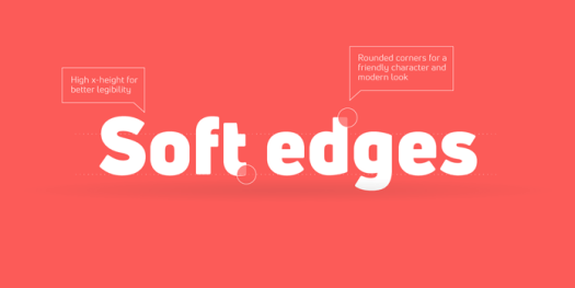 Modern sans serif with soft edges.