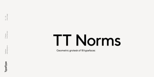 TT Norms font family - geometric grotesk of 18 styles