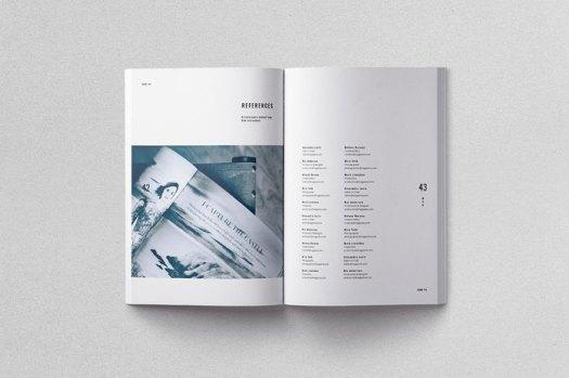 Moscovita print template, clean design.