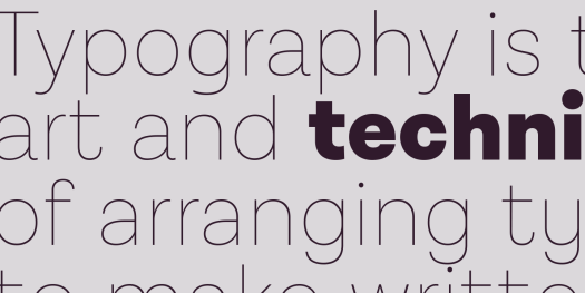 Lota Grotesque font family, high versatility and functionality.
