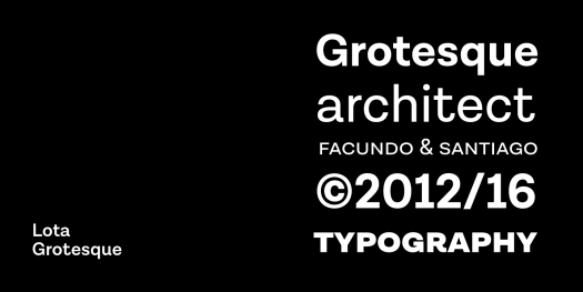 Lota Grotesque font family for different typographic needs.