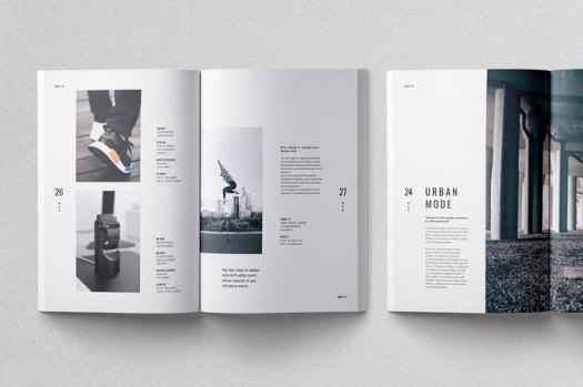 Moscovita brochure template, custom pages that suit perfectly for different needs.