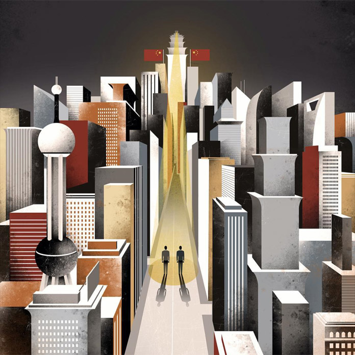 Cover illustration for Financial times created 6 years ago