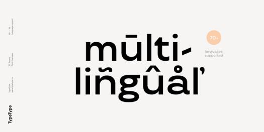 TT Travels font family, Multilingual.