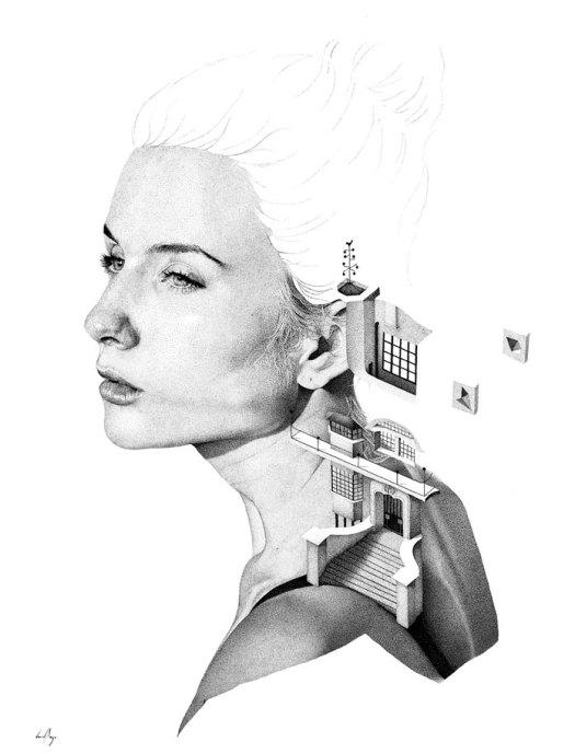 Bauhaus - million dots stippling artwork by David BAYO.