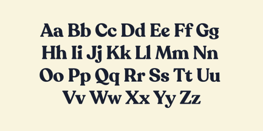 Recoleta font family - Upper and lowercase characters.