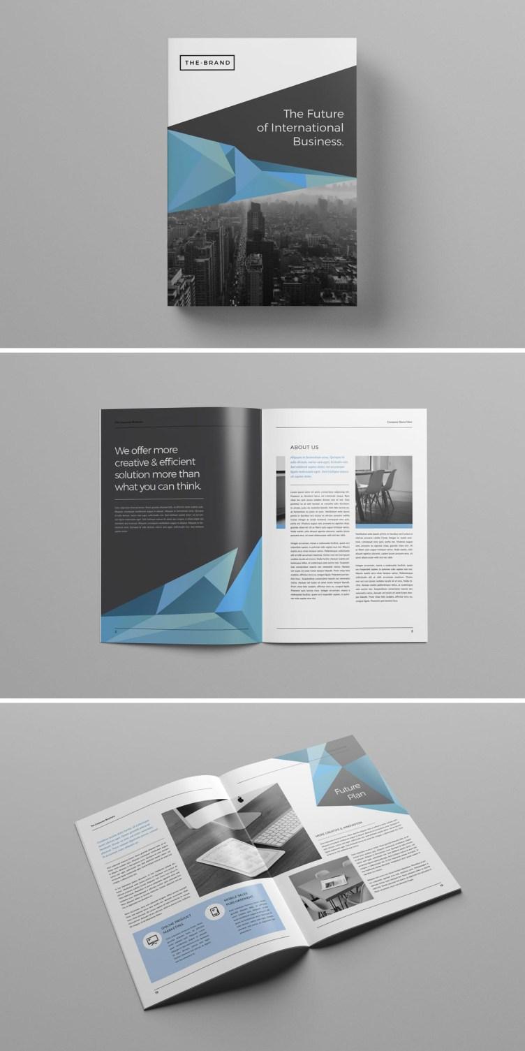 Adobe InDesign business brochure design