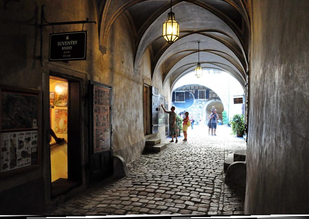 В коридорах замка Крумлова