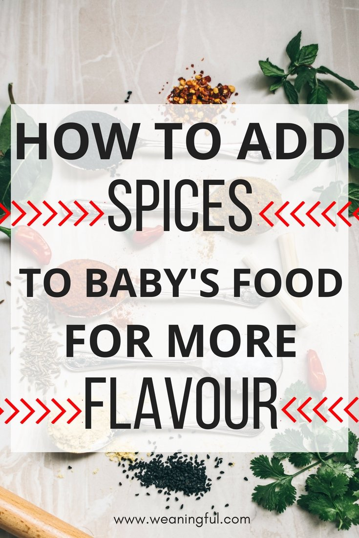 This guide to introducing spices in baby food is great for those doing baby led weaning and for all first foods and finger foods associated with introducing solids.