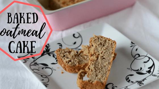 Baked oatmeal cake