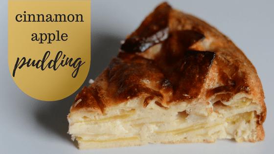 baby friendly cinnamon apple pudding