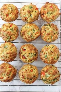 Spinach and cheese muffins great for baby led weaning first foods and finger foods