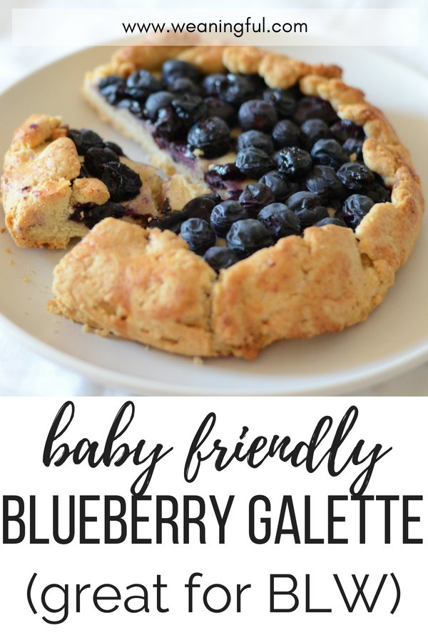 A blueberry galette no sugar recipe, perfect as baby food or toddler food. Works great for babies doing baby led weaning and it's good finger food or first foods when starting solids with your little one.