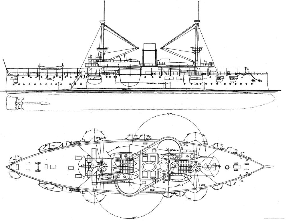 medium resolution of uss texas 1895 2nd class battleship