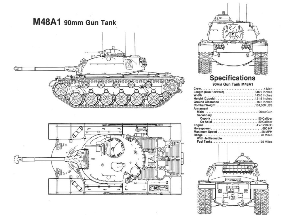 medium resolution of the u s army expressed its interest to the chrysler corporation in the development of a successor vehicle to the m47 tank in late 1950