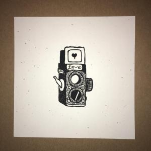 (Mini Camera print BW)