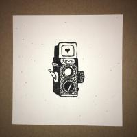 Mini Camera print BW